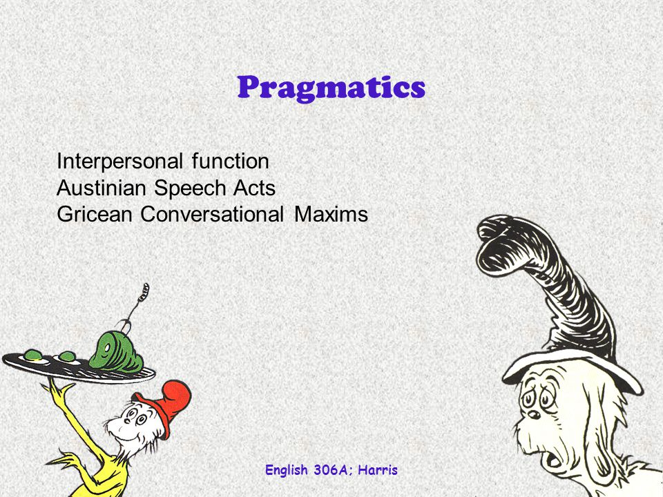 Pragmatics Interpersonal function Austinian Speech Acts