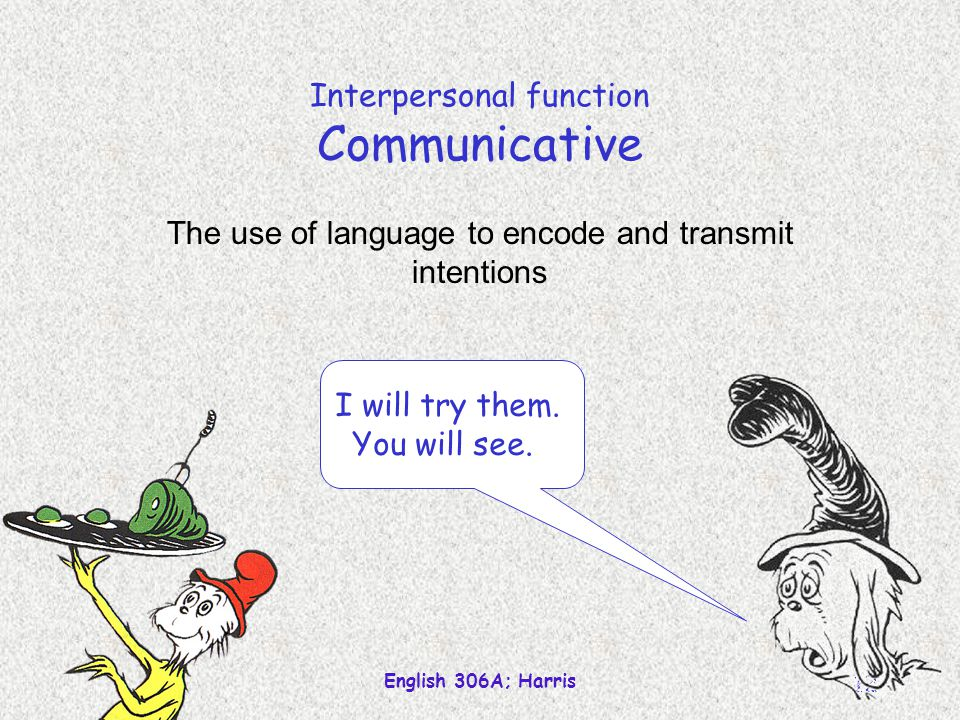 Interpersonal function Communicative