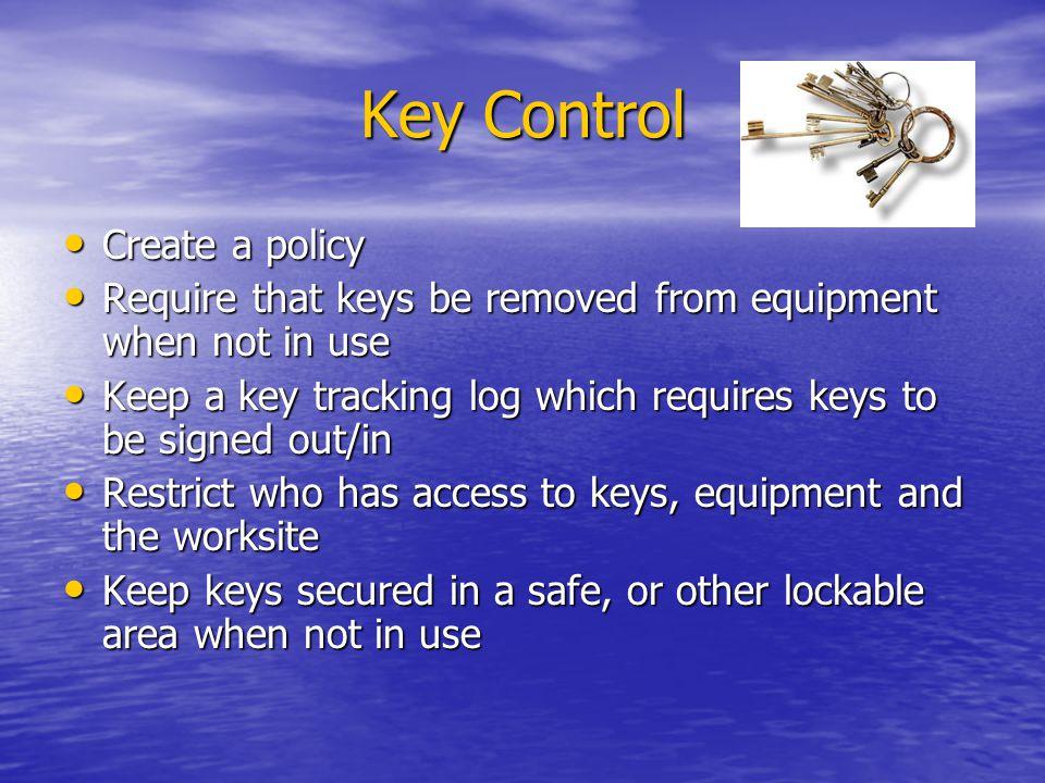 Key Control Create a policy