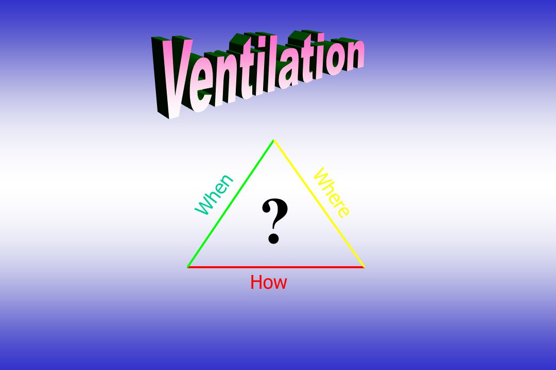 Ventilation Where When How