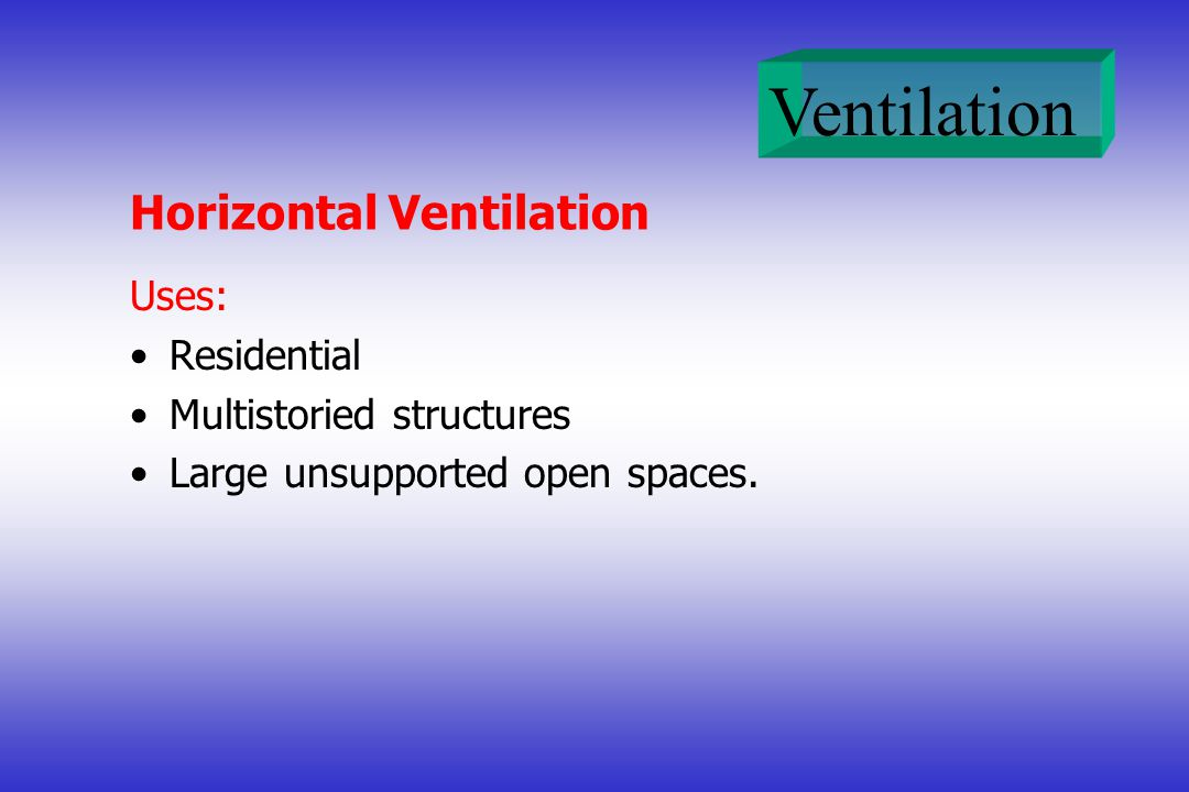 Horizontal Ventilation
