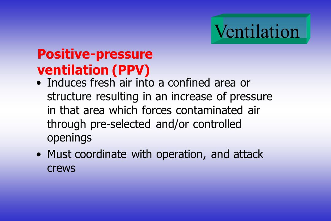 Positive-pressure ventilation (PPV)