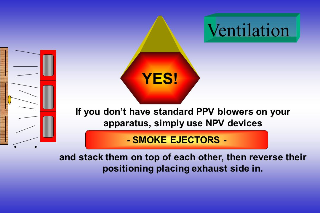 YES! If you don't have standard PPV blowers on your apparatus, simply use NPV devices.