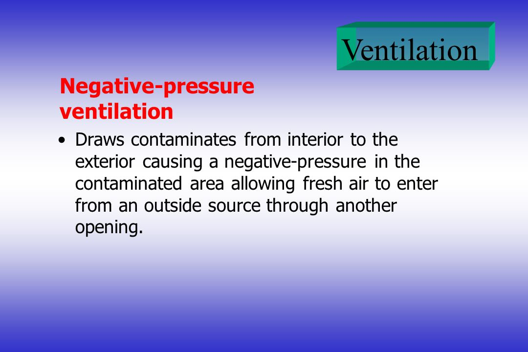Negative-pressure ventilation