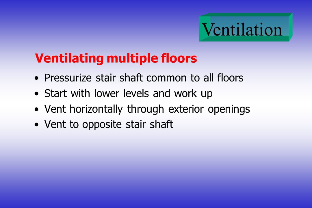 Ventilating multiple floors