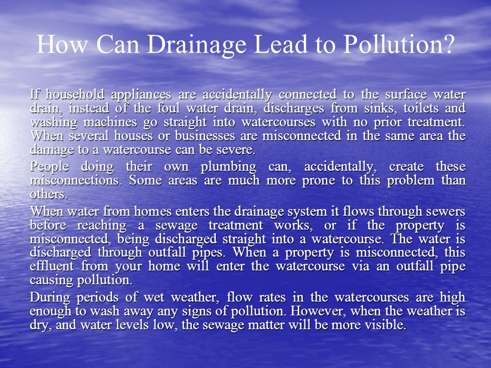 How Can Drainage Lead to Pollution