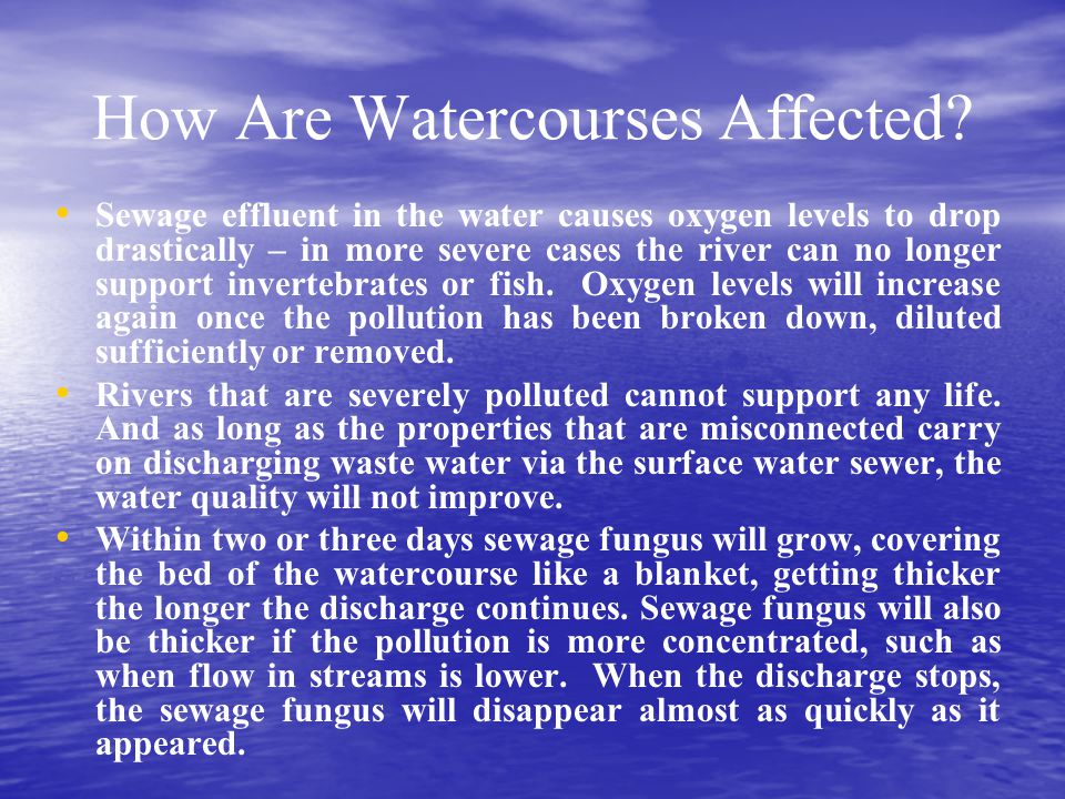 How Are Watercourses Affected
