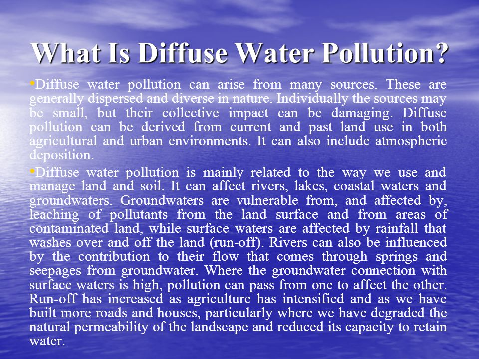 What Is Diffuse Water Pollution