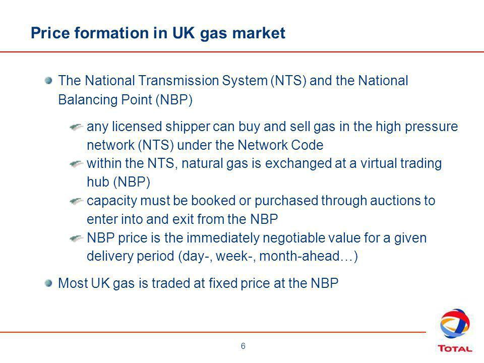 Price formation in UK gas market