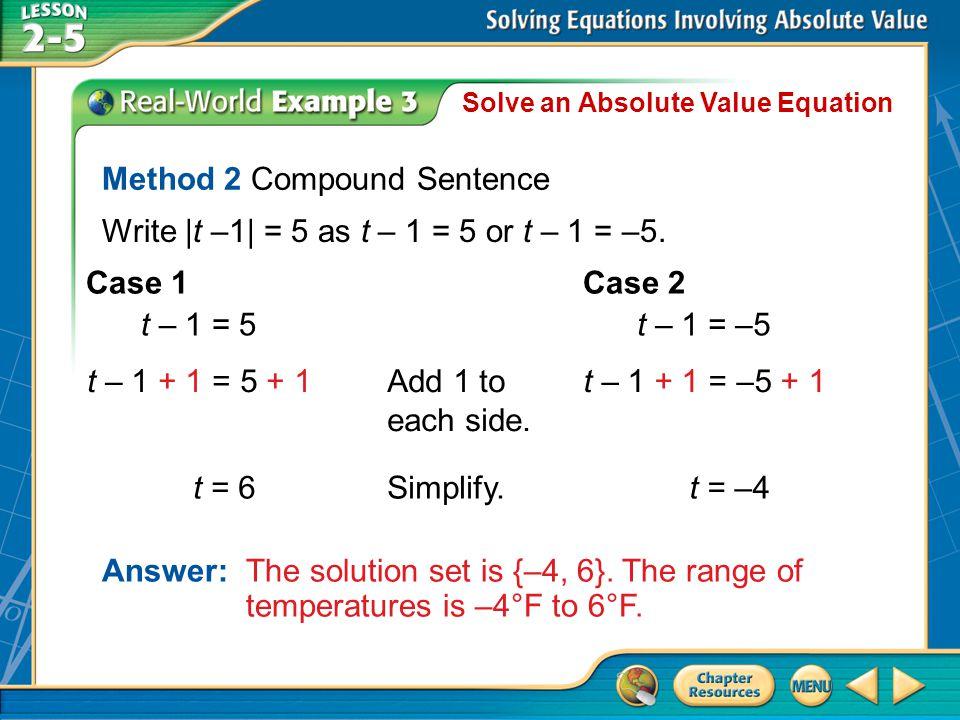 Method 2 Compound Sentence