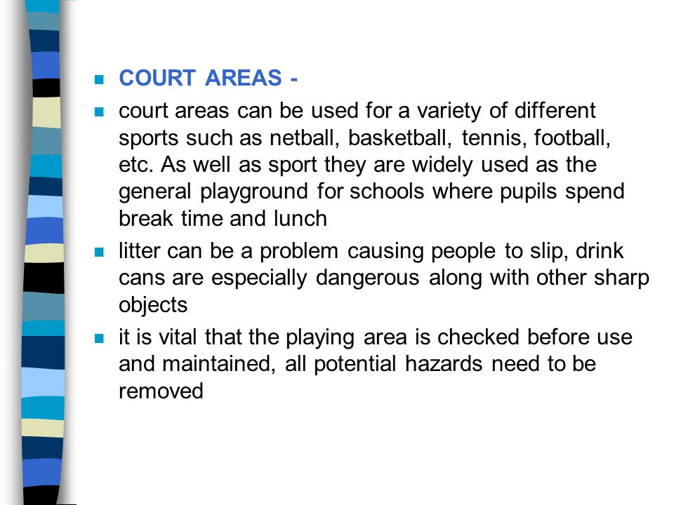 COURT AREAS -