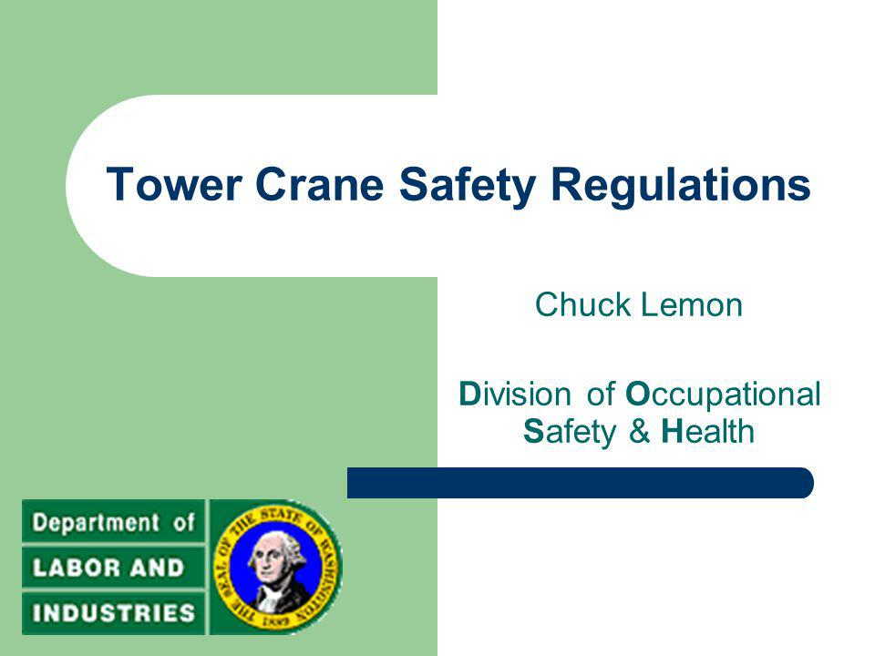 Tower Crane Safety Regulations
