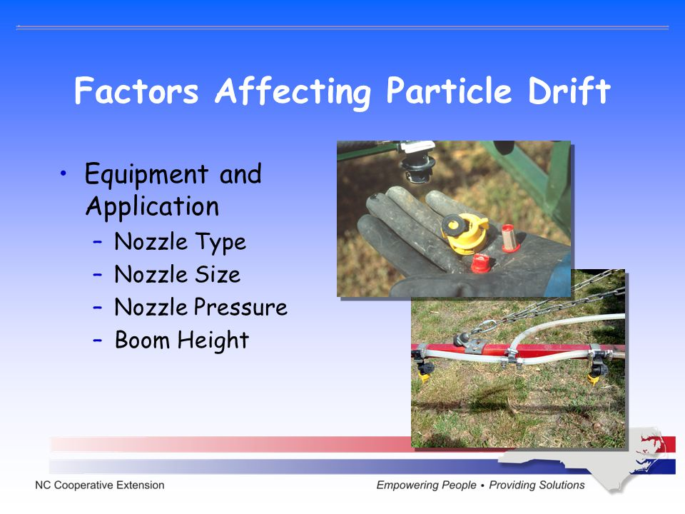Factors Affecting Particle Drift
