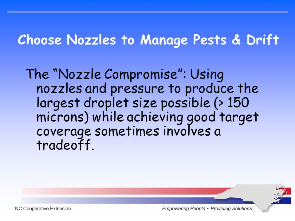 Choose Nozzles to Manage Pests & Drift