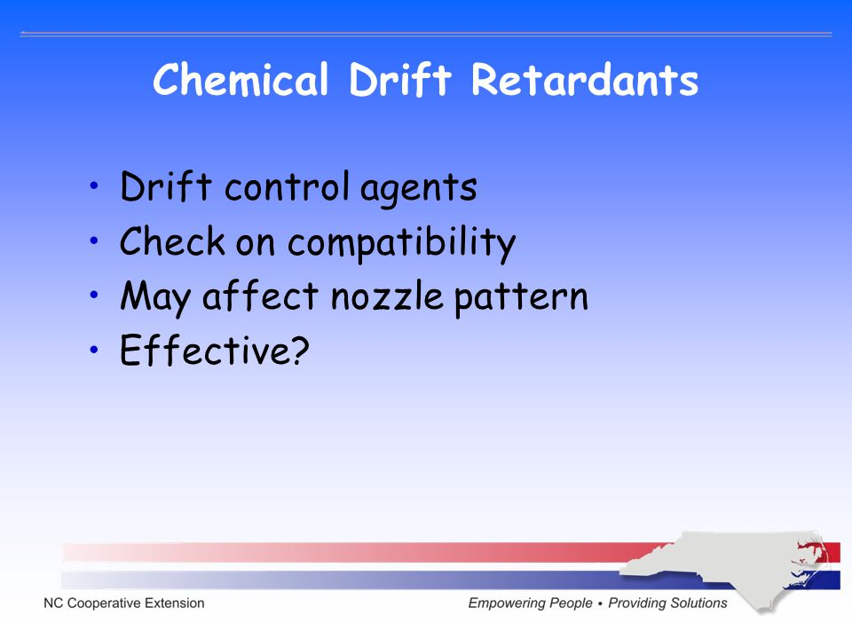 Chemical Drift Retardants