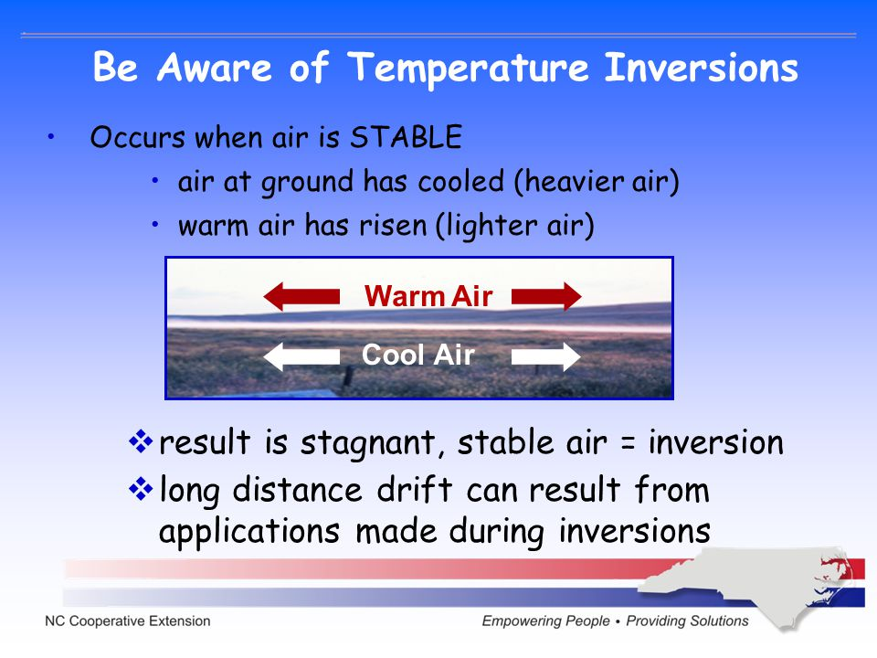 Be Aware of Temperature Inversions