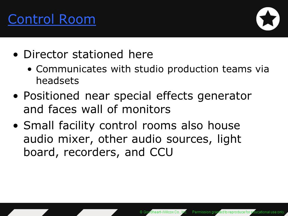 Control Room Director stationed here