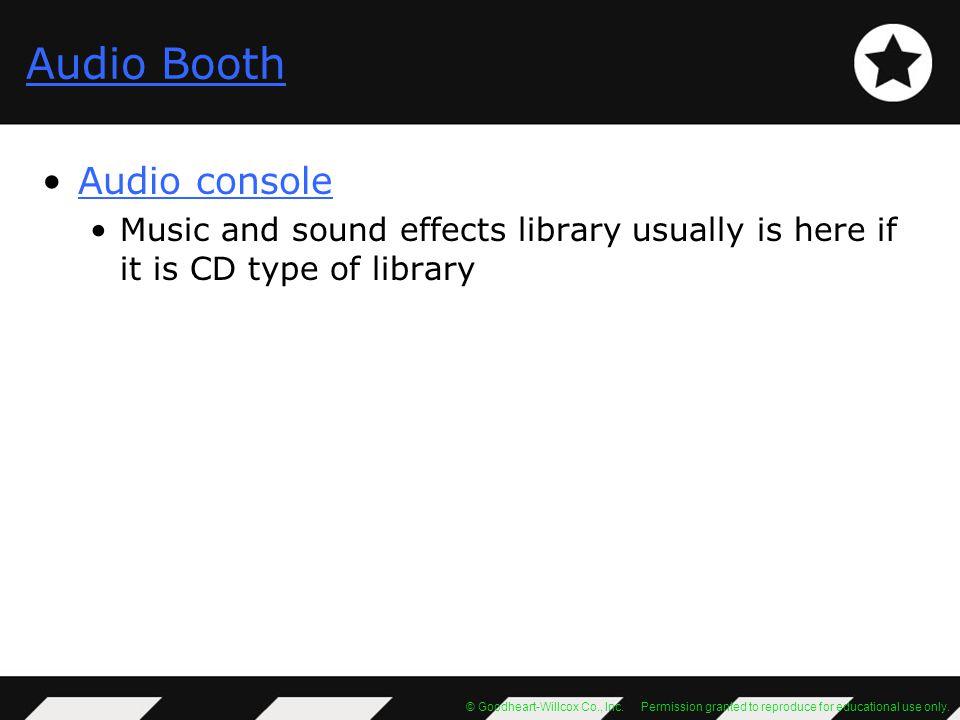 Audio Booth Audio console