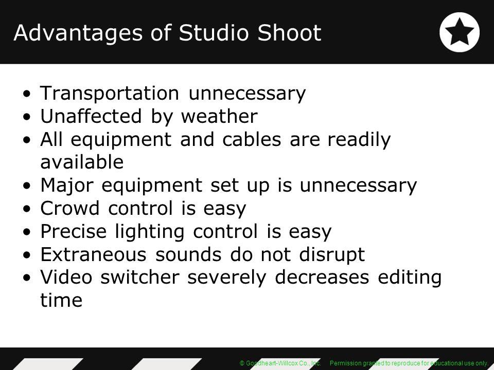 Advantages of Studio Shoot