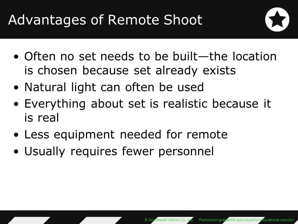 Advantages of Remote Shoot