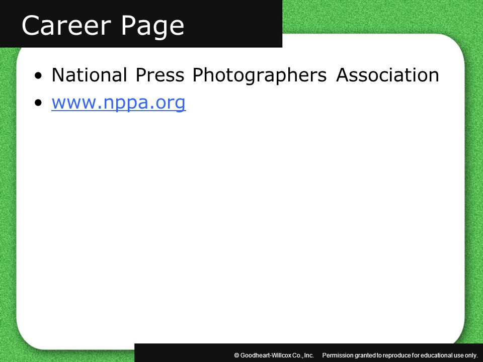 Career Page National Press Photographers Association www.nppa.org