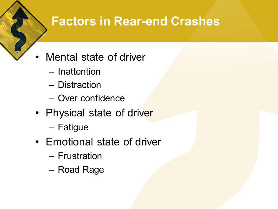 Factors in Rear-end Crashes