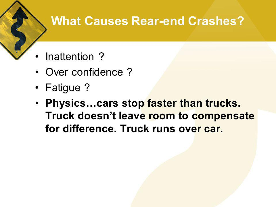 What Causes Rear-end Crashes