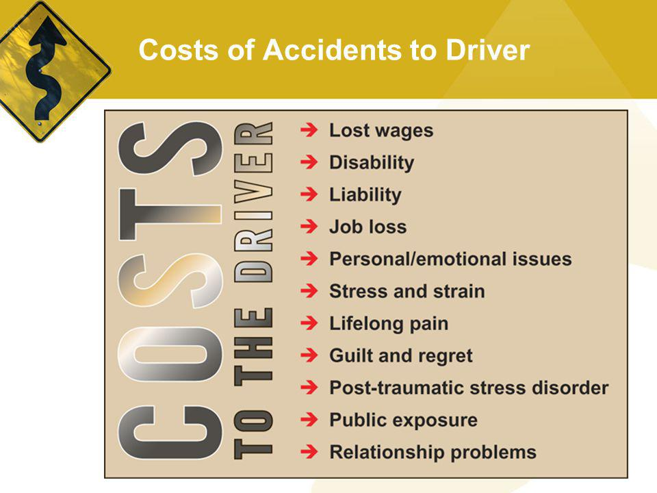 Costs of Accidents to Driver