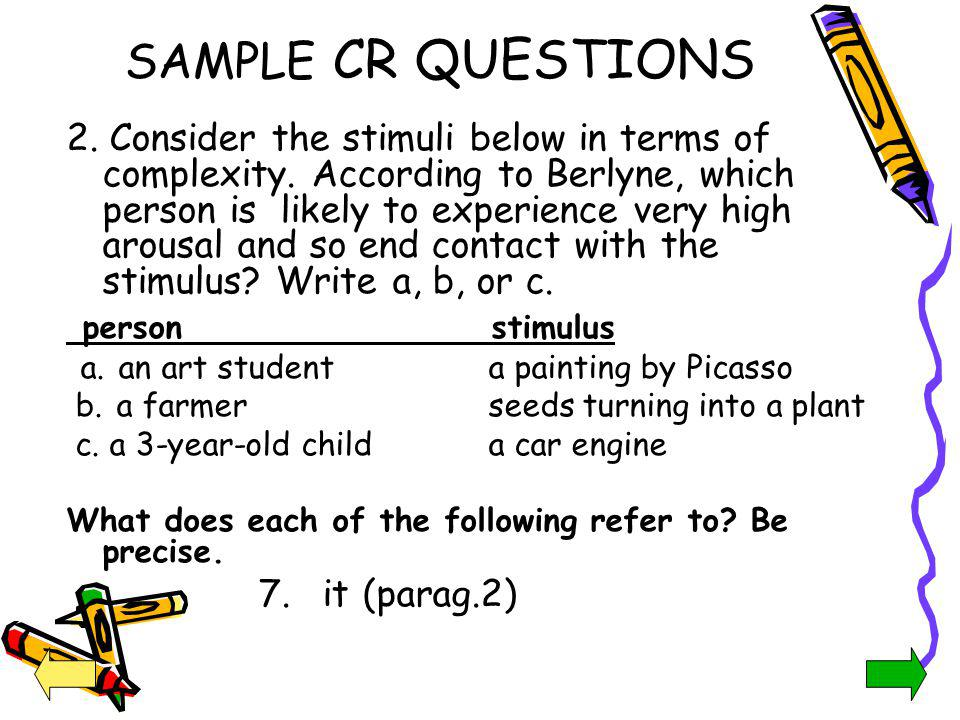 SAMPLE CR QUESTIONS