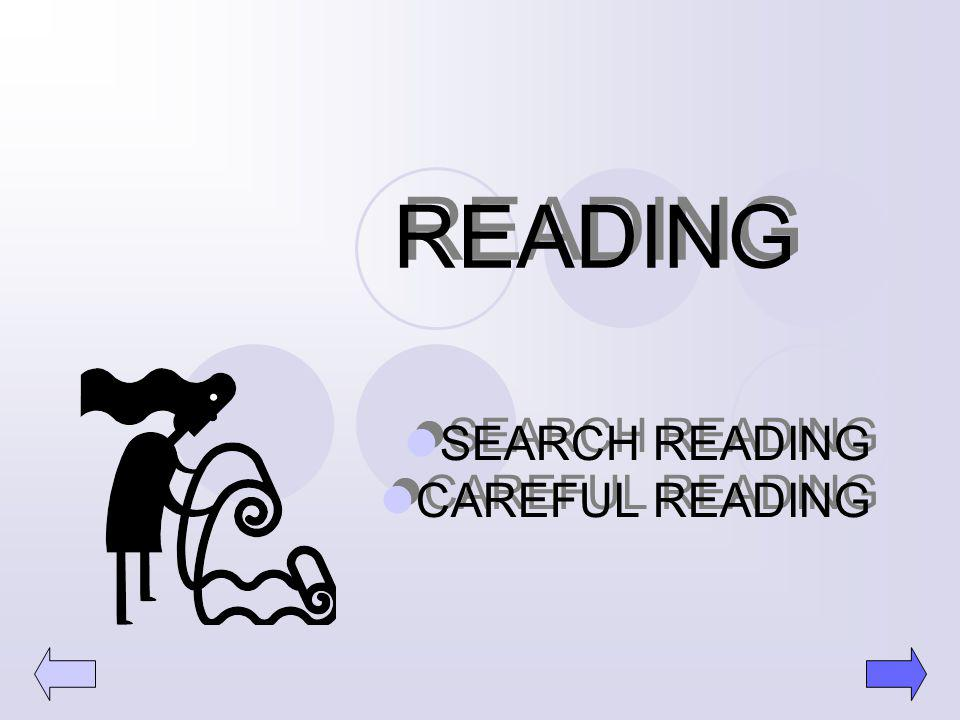SEARCH READING CAREFUL READING