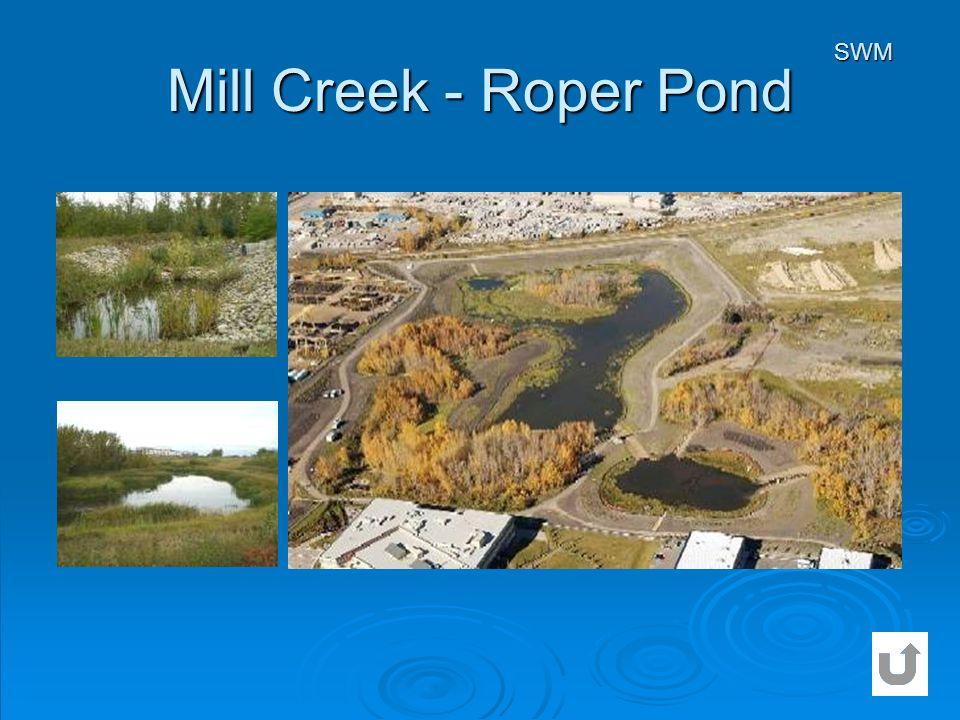 Mill Creek - Roper Pond SWM