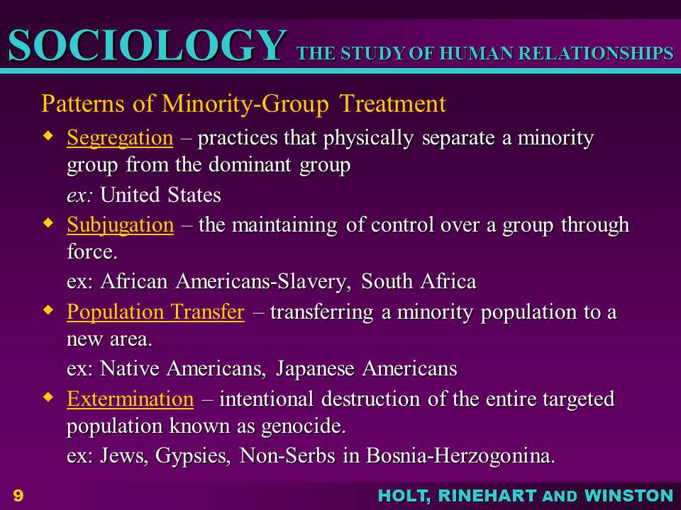 Patterns of Minority-Group Treatment