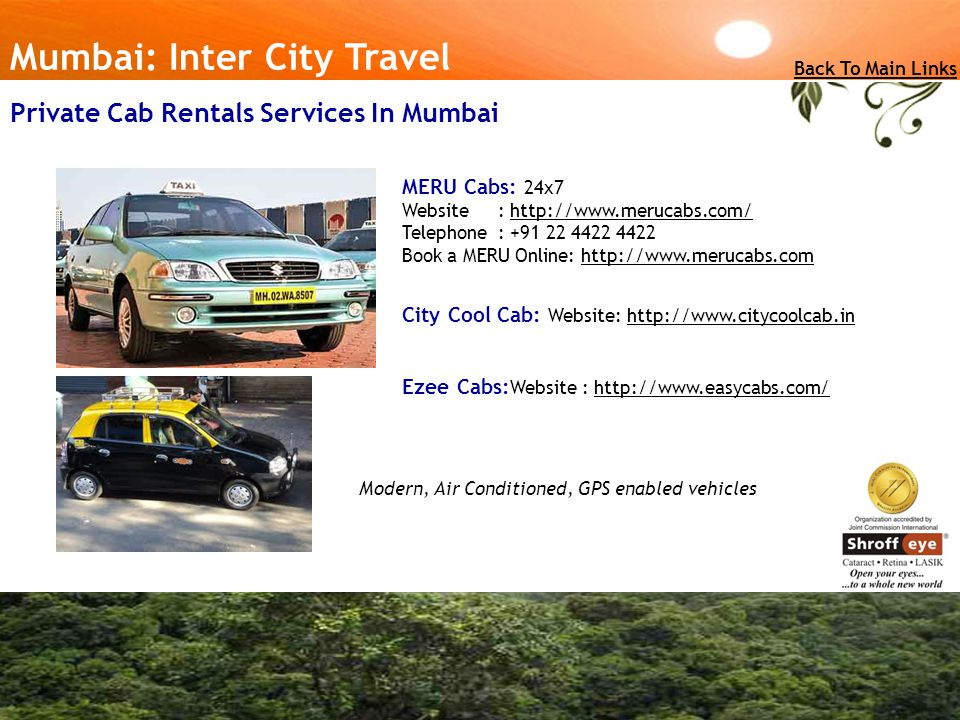Private Cab Rentals Services In Mumbai