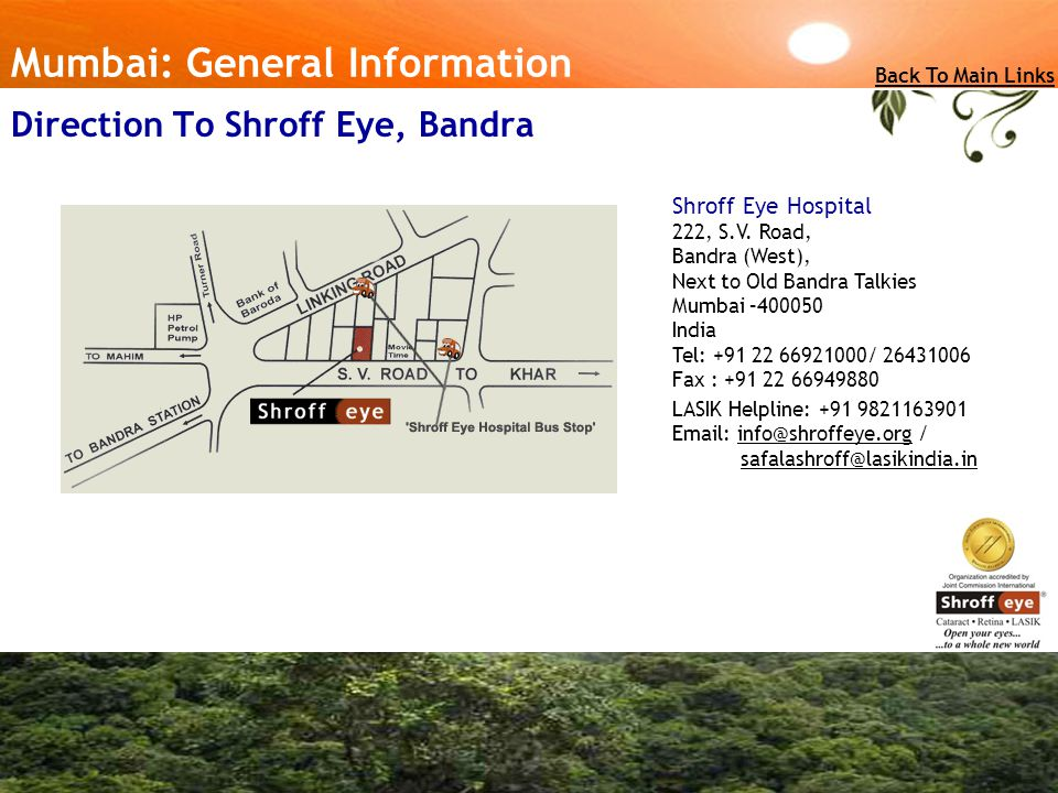 Direction To Shroff Eye, Bandra