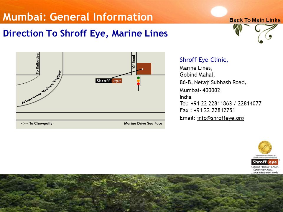 Direction To Shroff Eye, Marine Lines