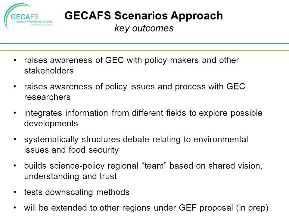 GECAFS Scenarios Approach