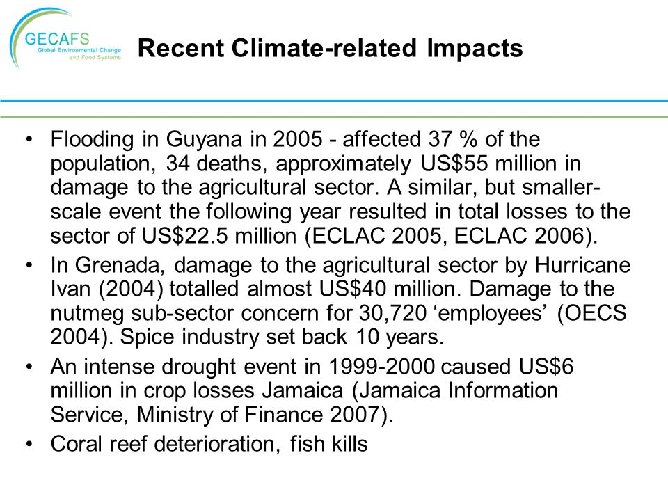 Recent Climate-related Impacts