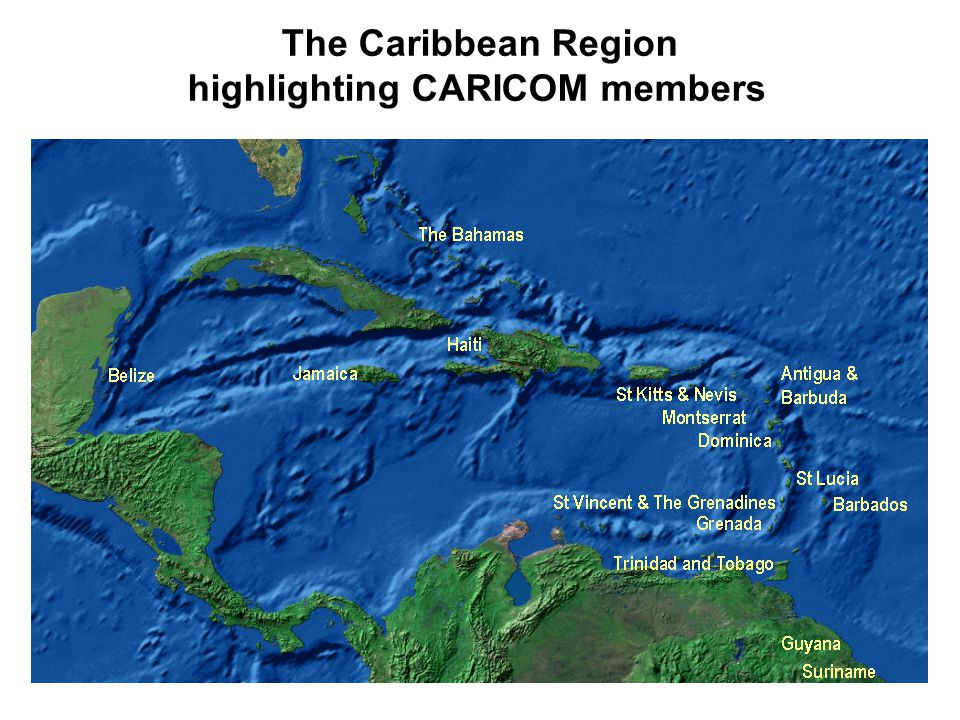 highlighting CARICOM members