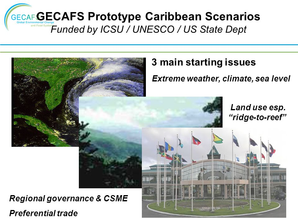 GECAFS Prototype Caribbean Scenarios