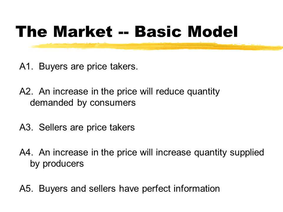 The Market -- Basic Model