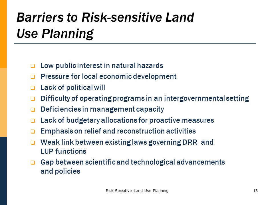 Risk Sensitive Land Use Planning