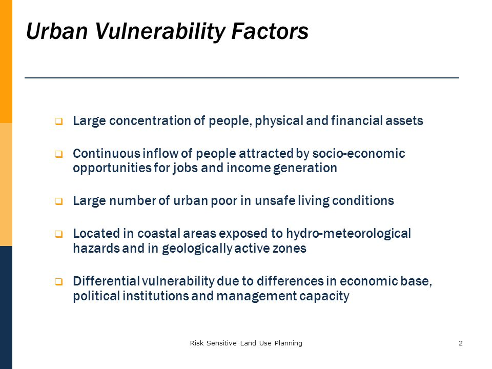 Urban Vulnerability Factors