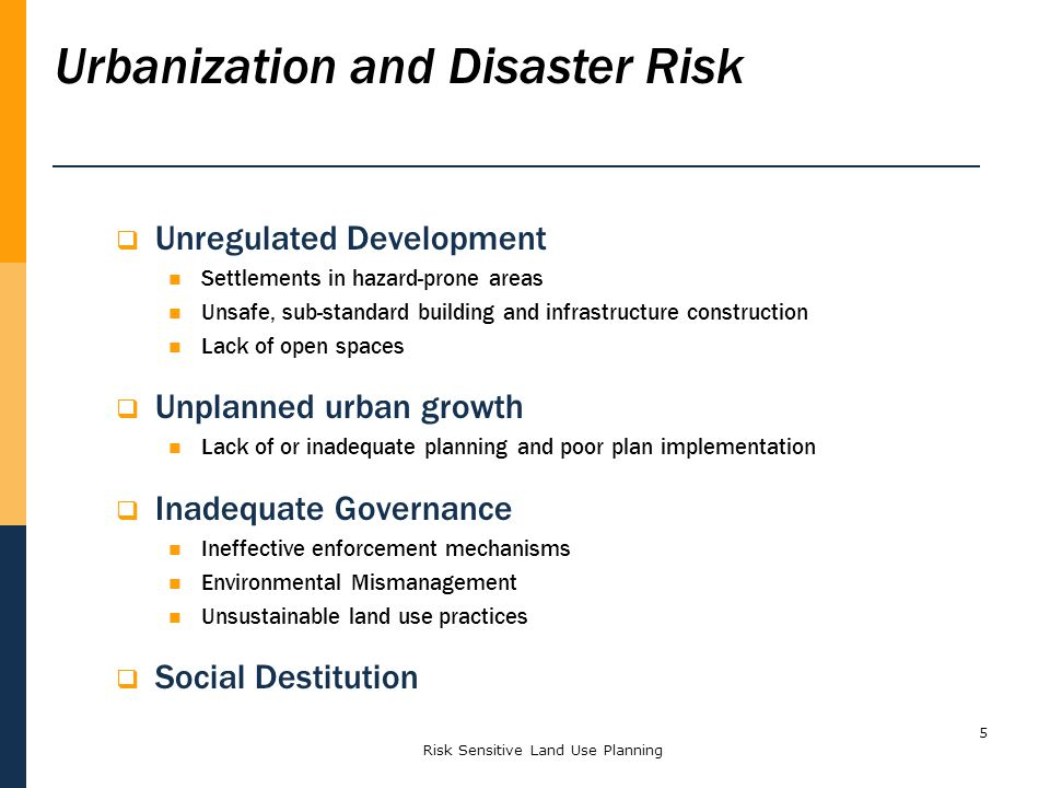 Urbanization and Disaster Risk