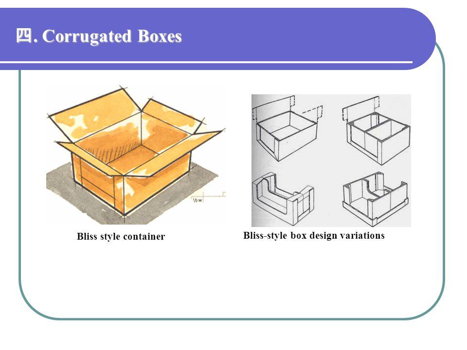 四. Corrugated Boxes Bliss style container