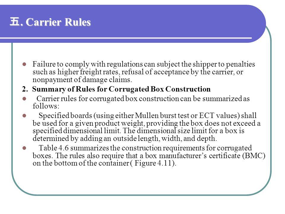 五. Carrier Rules
