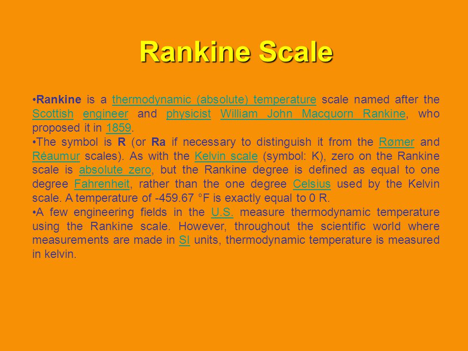 Rankine Scale
