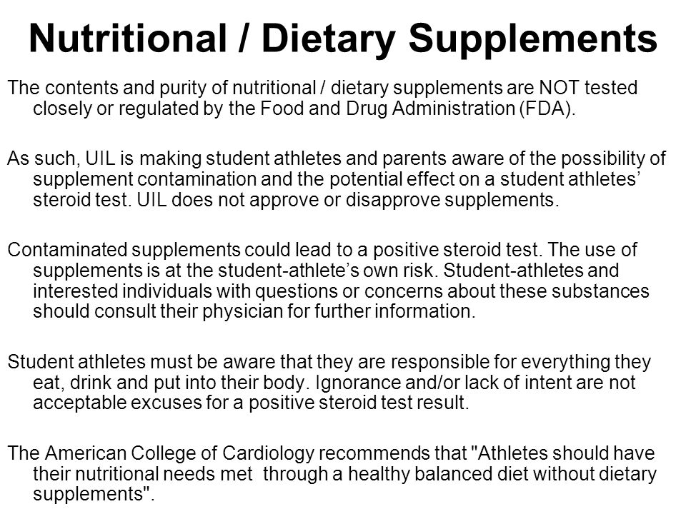 Nutritional / Dietary Supplements