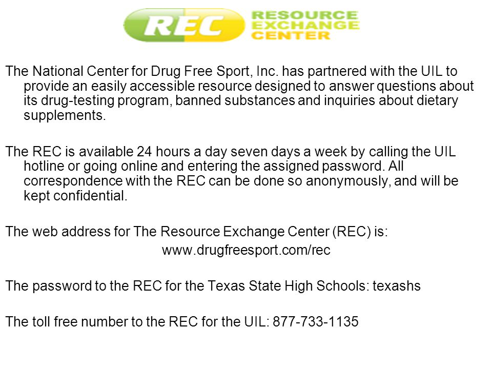 The National Center for Drug Free Sport, Inc