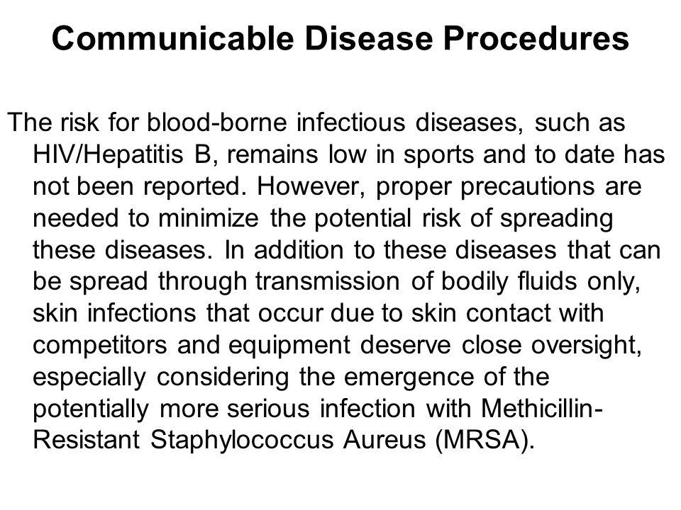 Communicable Disease Procedures