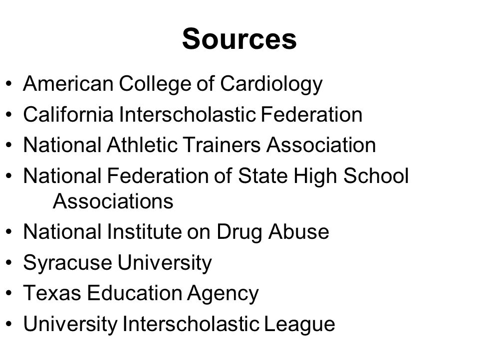 Sources American College of Cardiology
